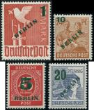 Lot n� 4703 - ** - --- BERLIN 47/50 : la s�rie, surch. verte, TB
