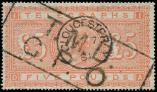 Lot n� 4798 -  - GRANDE BRETAGNE T�l�graphe 11 : 5p. rouge-orange, obl., TB