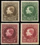 Lot n� 4728 - ** - BELGIQUE 289/92 : Albert 1er, la s�rie, N�290 *, TB