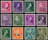 Lot n� 4735 - ** - BELGIQUE 724U/24FF : la s�rie surch., TB