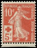 Lot n� 1601 - ** - 147a  Croix Rouge, 10c. + 5c. rouge-orange, TB