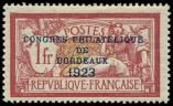 Lot n� 1617 - * - 182   Congr�s de Bordeaux, 1f. lie de vin, bon centrage, TB