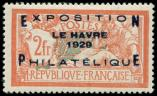 Lot n� 1651 - * - 257A  Expo Le Havre, 2f. orange et vert-bleu, bon centrage, TB