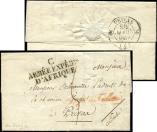 Lot n� 808 - <span><img src='https://www.ceres.fr/img/ImgLet.jpg' height=14 width=18 alt='Let' border='0'></span> - MP C/ARMEE EXPEDre/D'AFRIQUE s. LAC de Bougie 15/3/1834