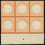Lot n� 4683 - ** - --- EMPIRE 8 : 2k. orange, BLOC de 6 bdf, TB