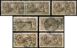 Lot n� 4794 -  - GRANDE BRETAGNE 153 : 2/6 brun, 5 unit�s dont une perfor�e + une paire, nuances ou oblit�rations, TB