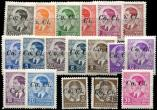 Lot n� 4886 - ** - YOUGOSLAVIE Occupation Italienne 1/17 : s�rie de 1941 + N�14 obl., TB