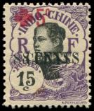 Lot n° 3753 - * - INDOCHINE 71a : 8c. sur 15c. + 5c., surch. DOUBLEE, gomme coloniale, TB