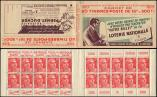 Lot n� 1950 -  - 813-C2    Gandon, 15f. rouge, n�813b, T II, S. 3, LOTERIE NATIONALE-PERNET DUCHER, 194 GP, Superbe