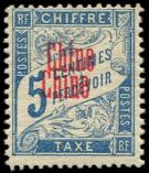 Lot n� 3501 - * - CHINE Taxe 1a : 5c. bleu, DOUBLE surcharge, TB