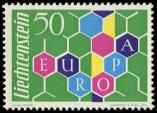 Lot n° 4555 - ** - LIECHTENSTEIN 355 : Europa 1960, TB