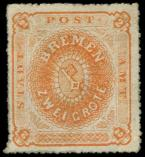 Lot n° 4438 - * - ALLEMAGNE (ANCIENS ETATS) BREME 5 : 2g. orange, TB