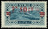Lot n° 4275 - ** - SYRIE 191 : 7p.50 s. 2p.50 bleu-vert, surcharge DOUBLEE, TB