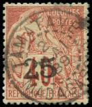 Lot n° 3793 -  - MADAGASCAR 3 : 25 sur 40c. rouge-orange, obl. càd TAMATAVE 2/5/89, TB