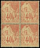 Lot n° 3251 - ** - 57   40c. rouge-orange, BLOC de 4, TB