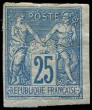 Lot n° 3241 - * - 35   25c. bleu, pli, aspect TB. J