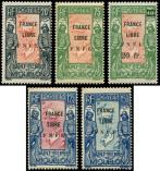 Lot n� 4202 - ** - SAINT PIERRE ET MIQUELON 285/290 : France Libre, F.N.F.L, TTB. C