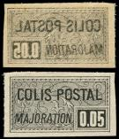 Lot n� 2165 - ** - 18b  0.05 noir, impression RECTO-VERSO, TB