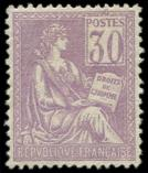 Lot n° 1277 - ** - 115   Mouchon, 30c. violet, excellent centrage, TTB