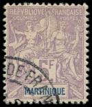 Lot n� 3946 -  - MARTINIQUE 51 : 5f. violet, obl., TB