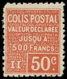 Lot n� 2184 - ** - 54   50c. rouge, TB, Yvert N�56