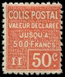 Lot n� 2185 - * - 54   50c. rouge, Yvert N�56, TB