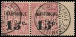 Lot n� 3941 -  - MARTINIQUE 18a : 15c. sur 75c. rose,