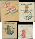 Lot n° 3828 -  - MADAGASCAR 83A, 84, 86 et 93 : MOITIES de t. obl. s. 4 fragts, TB