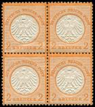 Lot n° 4443 - ** - --- EMPIRE 8 : 2k. orange, BLOC de 4, frais et TB