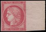 Lot n° 3688 - * - 21   80c. rose, bdf, TTB