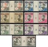 Lot n° 4147 - ** - KOUANG-TCHEOU 52/55, 57/58 et 63 : 7 PAIRES Mill.3, TB, cote Maury