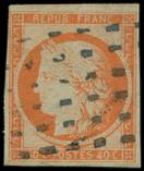 Lot n� 137 -  - 5    40c. orange, oblit�r� GROS POINTS, TB