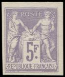 Lot n° 1156 - (*) - Emission des Régents 95b   5f. violet, TB. Br