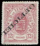 Lot n� 4835 - (*) - LUXEMBOURG Service 4A : 12 1/2c. rose, surch. OFFICIEL RENVERSEE, TB. S