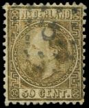 Lot n� 4840 -  - PAYS-BAS 12 : 50c. or, obl., TB