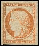 Lot n° 186 - * - R5g  40c. orange, REIMPRESSION, TB