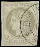 Lot n° 3684 -  - 16    4c. gris, obl. càd Cochinchine, TB/TTB. Br