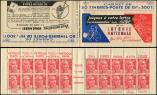 Lot n� 2620 -  - 813-C1    Gandon, 15f. rouge, n�813b, T II, S. 1, LOTERIE NATIONALE/DESSIN FACILE, Superbe