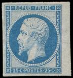 Lot n° 226 - (*) - R10c 25c. bleu, REIMPRESSION, petit bdf, TB