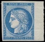 Lot n° 182 - ** - R4d  25c. bleu, REIMPRESSION, bdf, TB