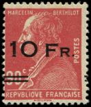 Lot n° 2207 - ** - 3   10Fr. sur 90c. rouge, Berthelot, ILE de FRANCE, TTB. C