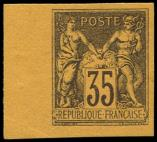 Lot n° 1102 - * - 93b  35c. violet noir sur orange, NON DENTELE, bdf, TB