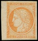 Lot n° 3682 - * - 13   40c. orange, petit bdf, TB