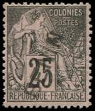 Lot n° 3852 - * - BENIN 8 : 25c. noir sur rose, surch. T I diagonale, bon centrage, TTB