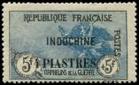 Lot n° 4134 - * - INDOCHINE 95 : 4pi. sur 5f. + 5f., Orphelins, TB