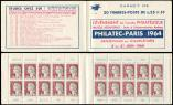Lot n� 2653 -  - 1263-C4    Marianne de Decaris, 0,25 gris et grenat, n�1263c, T I, S. 6-64, PHILATEC-PARIS 1964, TB