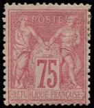 Lot n° 1058 - * - 81   75c. rose, gomme partielle, aspect TTB