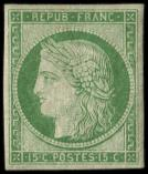 Lot n� 179 - * - R2e  15c. vert clair, REIMPRESSION, TB