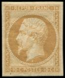 Lot n° 222 - * - R9c  10c. bistre-jaune, REIMPRESSION, TB
