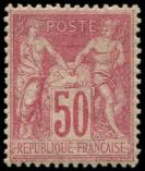 Lot n° 1144 - * - 104  50c. rose, excellent centrage, inf. ch., TB